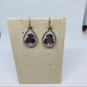 lg rhinestone teardrop earrings